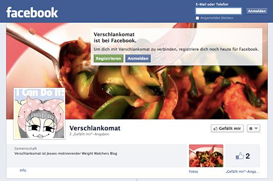 Verschlankomat auf facebook