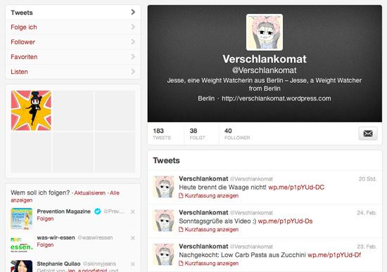Verschlankomat auf Twitter