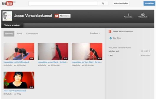 Verschlankomat auf Youtube