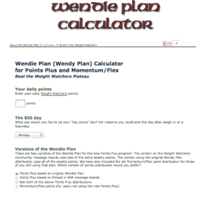 Wendie Plan Calculator